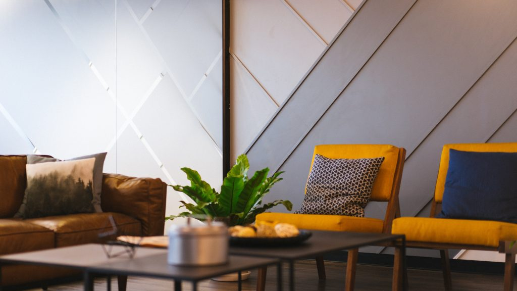 Living Room Wallpaper Design Ideas - Living Room Virtual Background , HD Wallpaper & Backgrounds