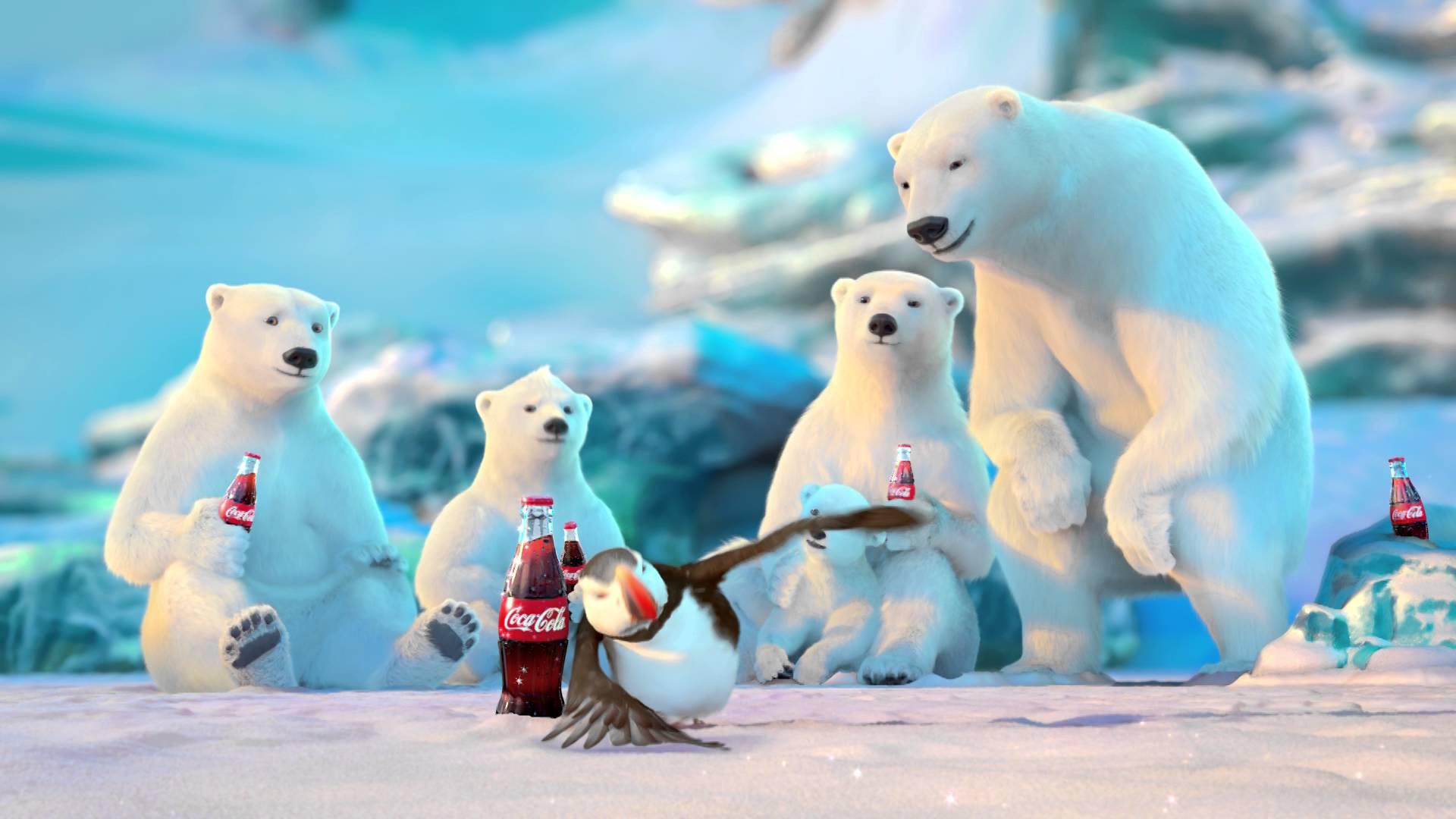 Coca Cola Polar Bear Wallpaper Coca Cola Bears Christmas 3074534 Hd Wallpaper Backgrounds Download