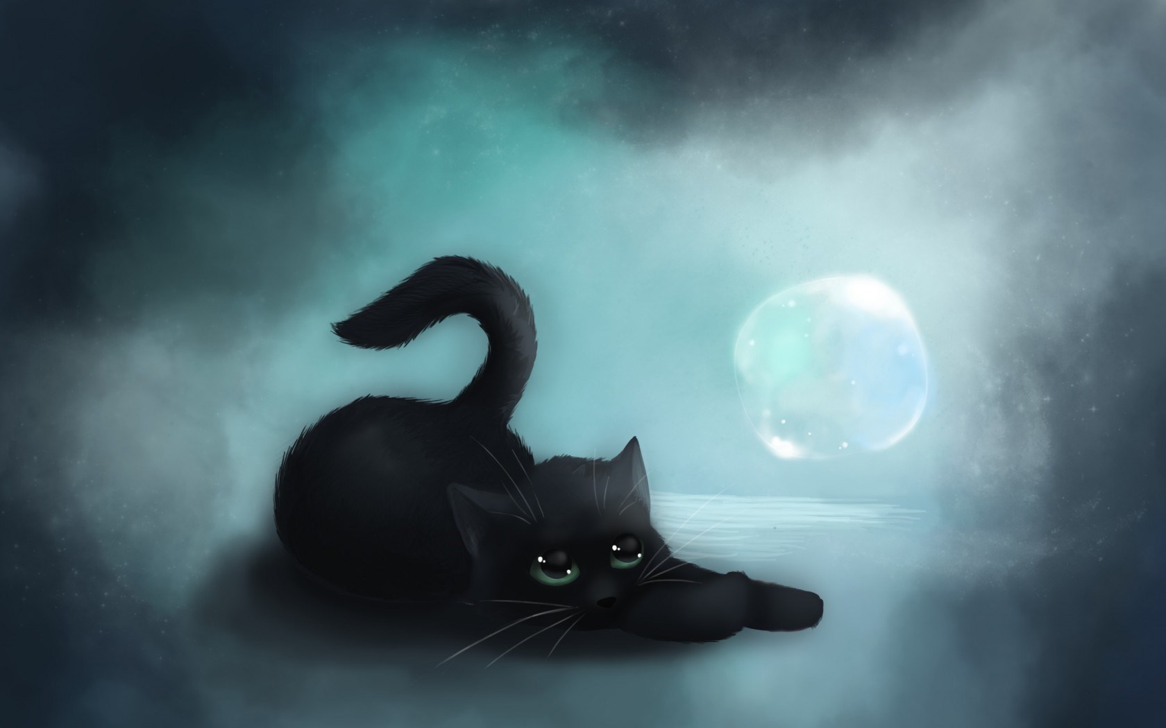 Cat Computer Wallpaper Cute Black Cat Background 3074990 Hd Wallpaper Backgrounds Download