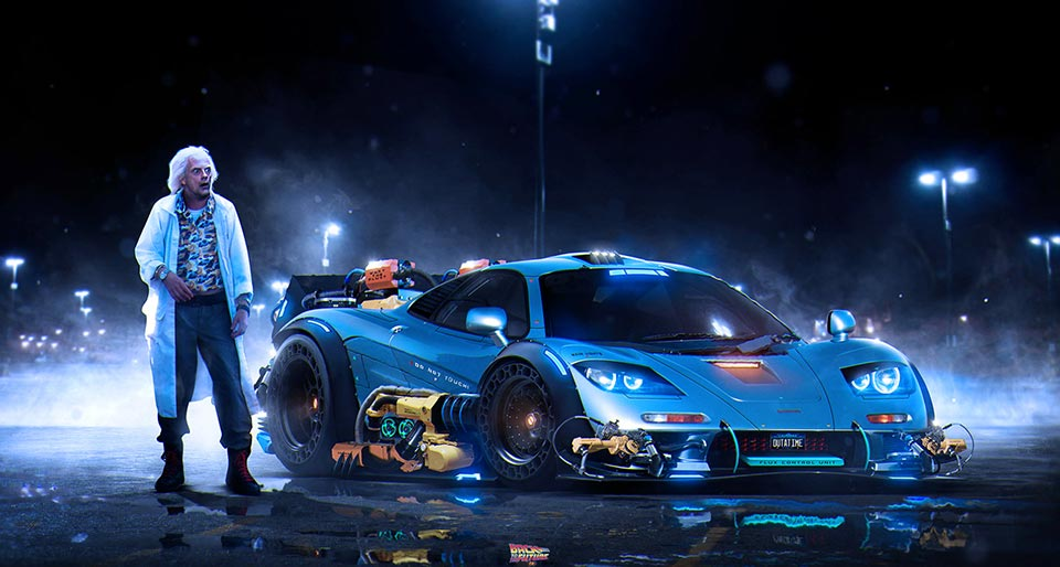 Back To The Future - Mclaren F1 Back To The Future , HD Wallpaper & Backgrounds
