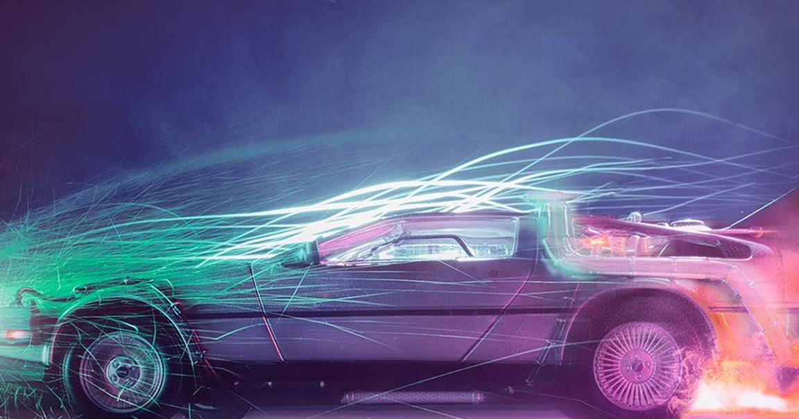 Back To The Future Car Iphone Wallpaper - Back To The Future Delorean Takes Off , HD Wallpaper & Backgrounds