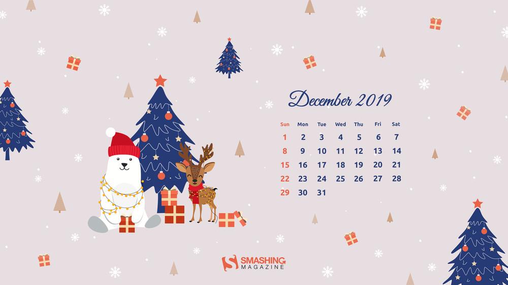 Dec 19 Christmas Mood Full - December 2019 Calendar Wallpaper Desktop , HD Wallpaper & Backgrounds