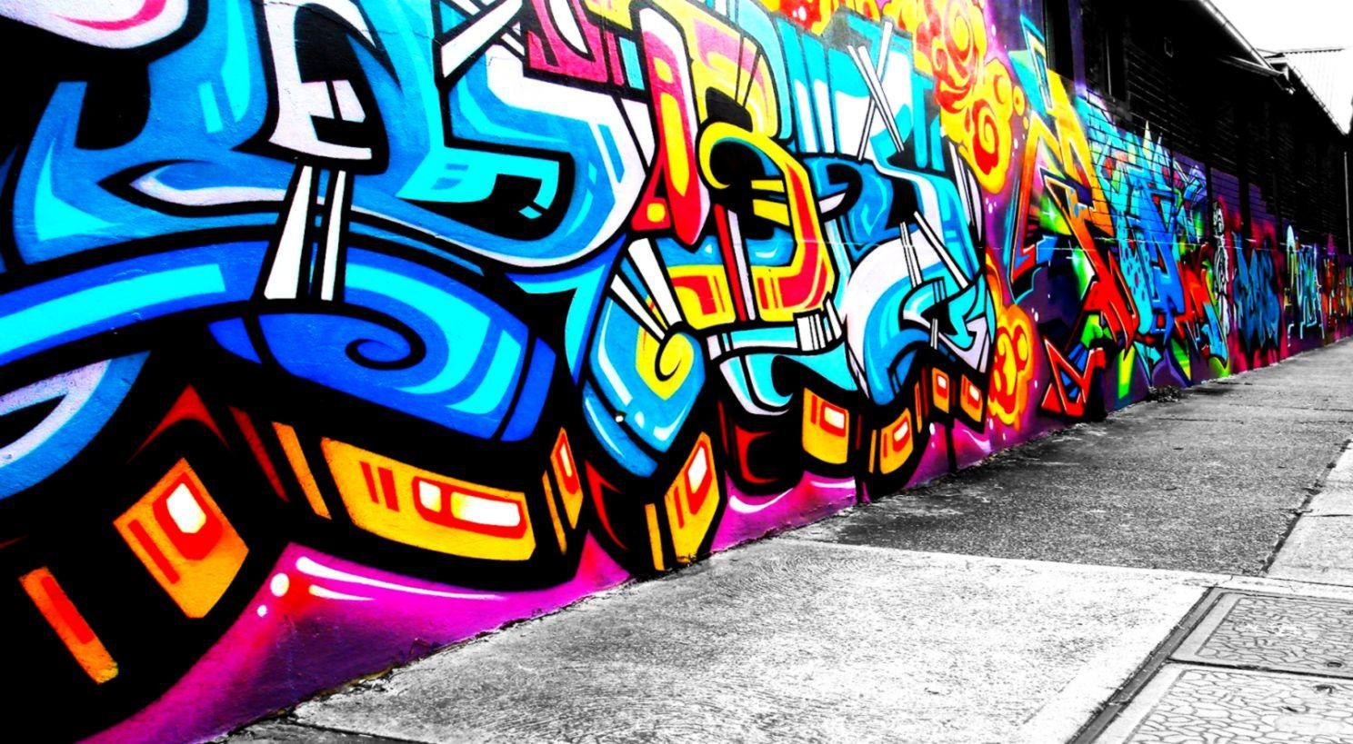 Cool Art Wallpaper Graffiti Wall - Wall Graffiti Art Background , HD Wallpaper & Backgrounds