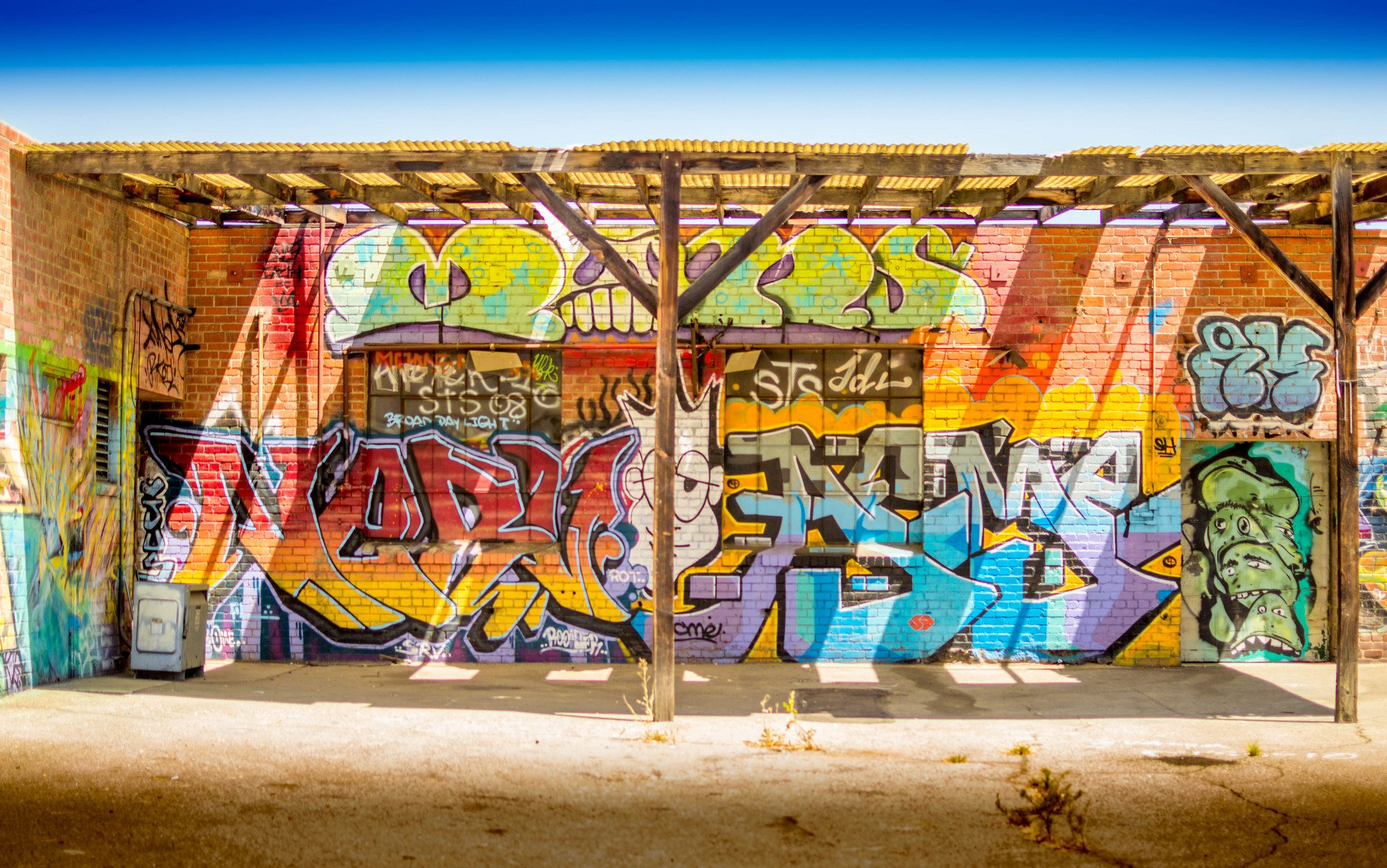 Los Angeles California Pacific Buildings Cities Graffiti - Los Angeles Graffiti Wallpaper 4k , HD Wallpaper & Backgrounds