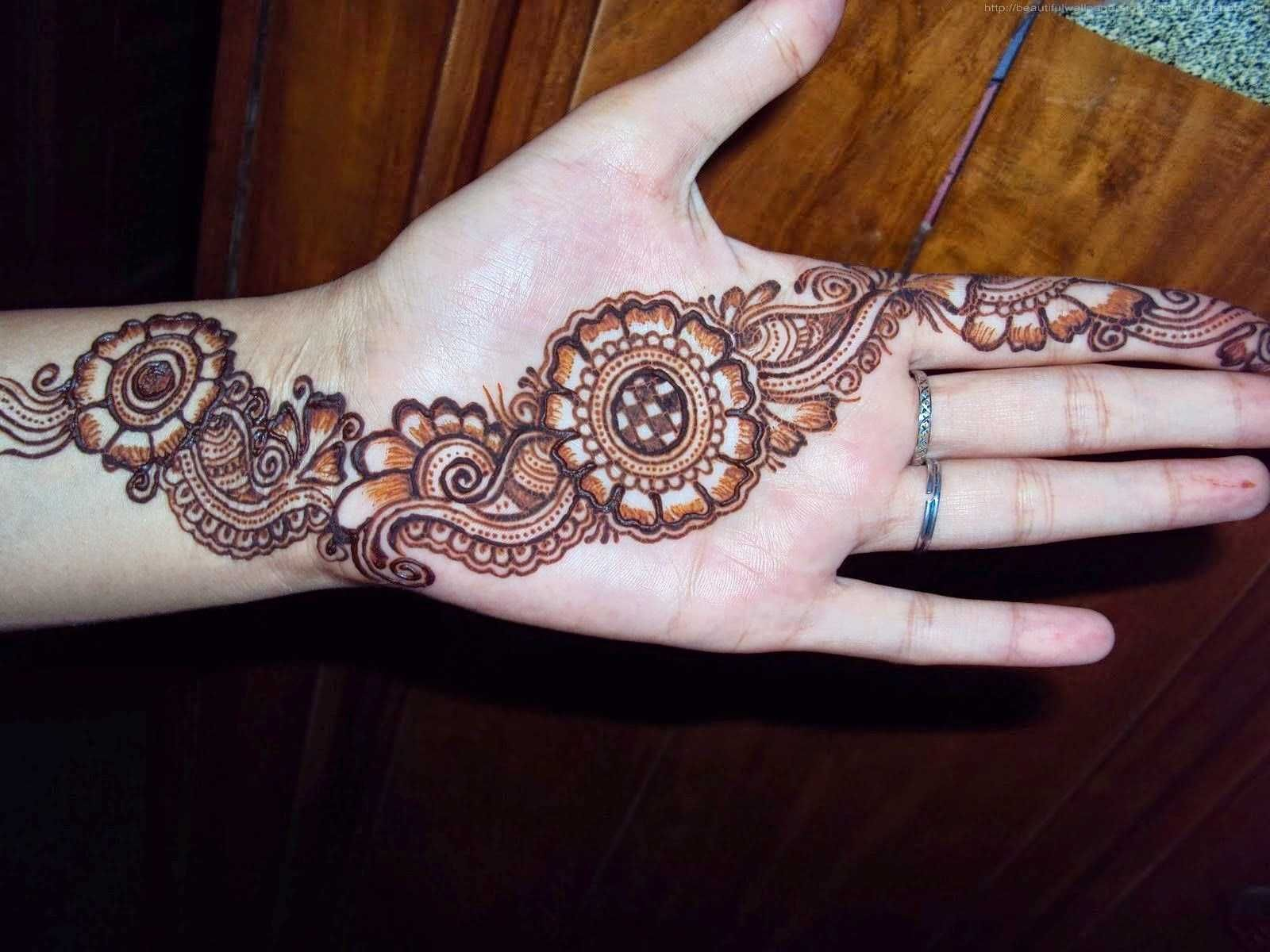 Front Hand Simple Mehndi Design , HD Wallpaper & Backgrounds
