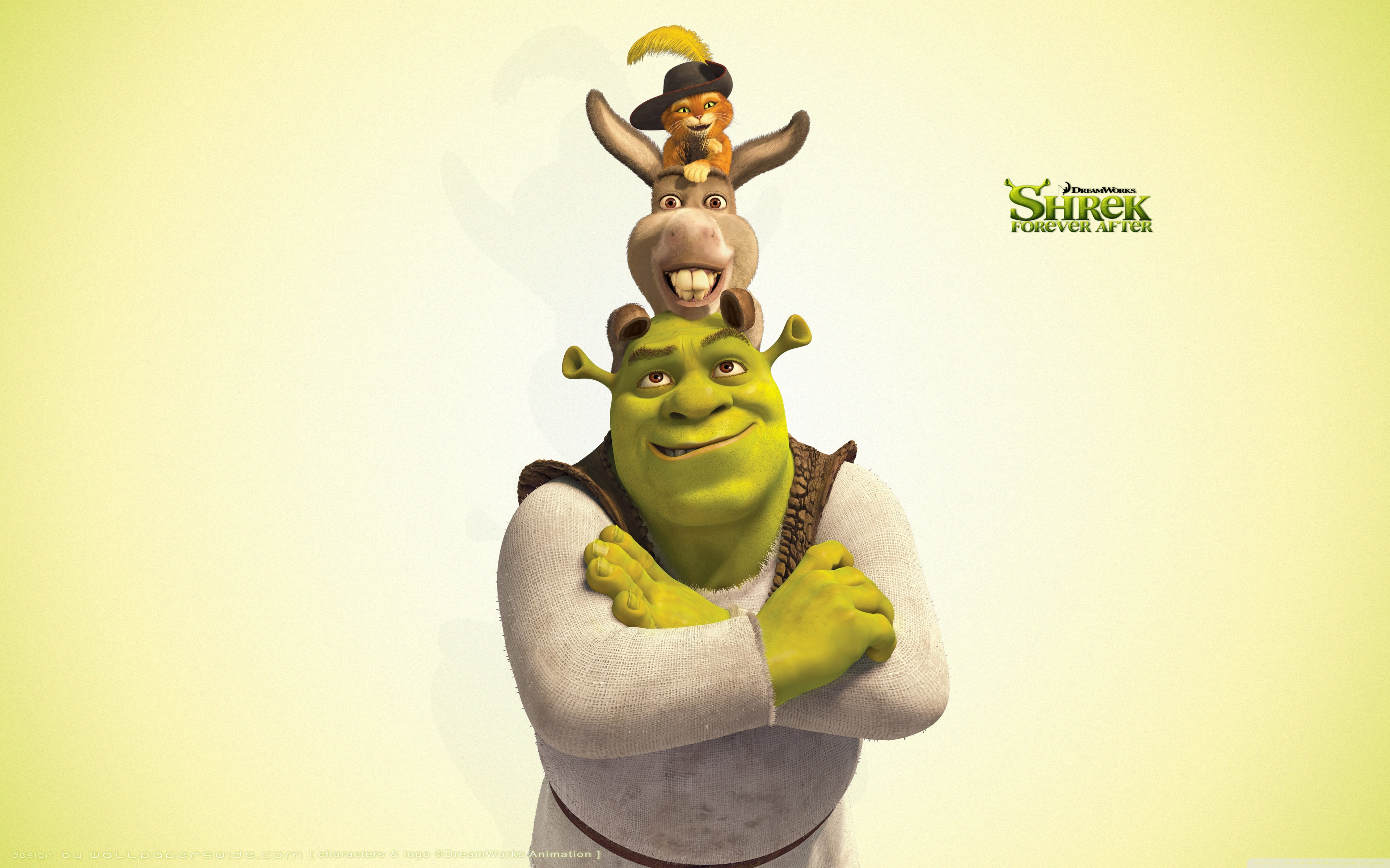 Shrek Donkey And Puss 3087679 Hd Wallpaper Backgrounds Download