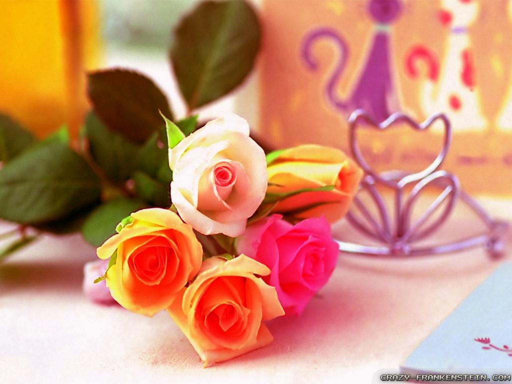Love Flowers Wallpapers - Love Wallpapers Flower Beautiful , HD Wallpaper & Backgrounds