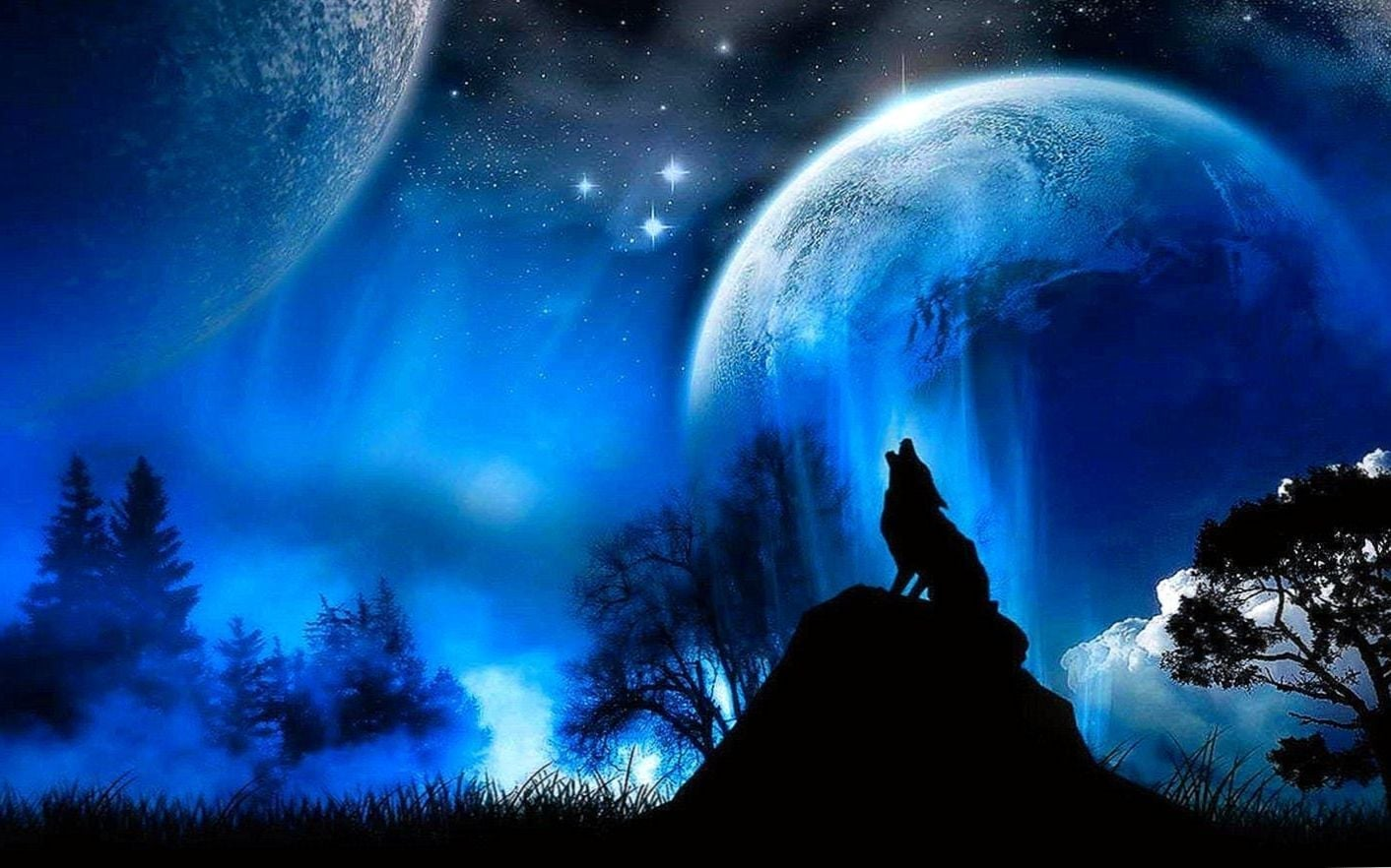 Wolf Blood Moon Wallpapers - Cool Wolf Facebook Cover , HD Wallpaper & Backgrounds