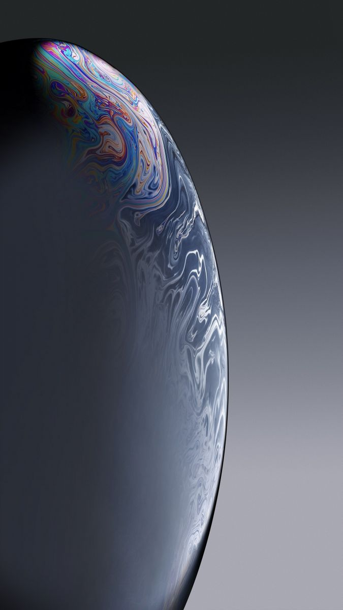 Bubble Gray Iphone Xr 11 12 Xi Max Wallpaper 02 - Fond Ecran Iphone Xs 4k , HD Wallpaper & Backgrounds