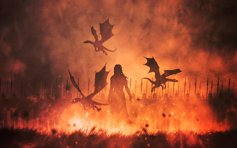 Daenerys Targaryen And His Dragon , HD Wallpaper & Backgrounds