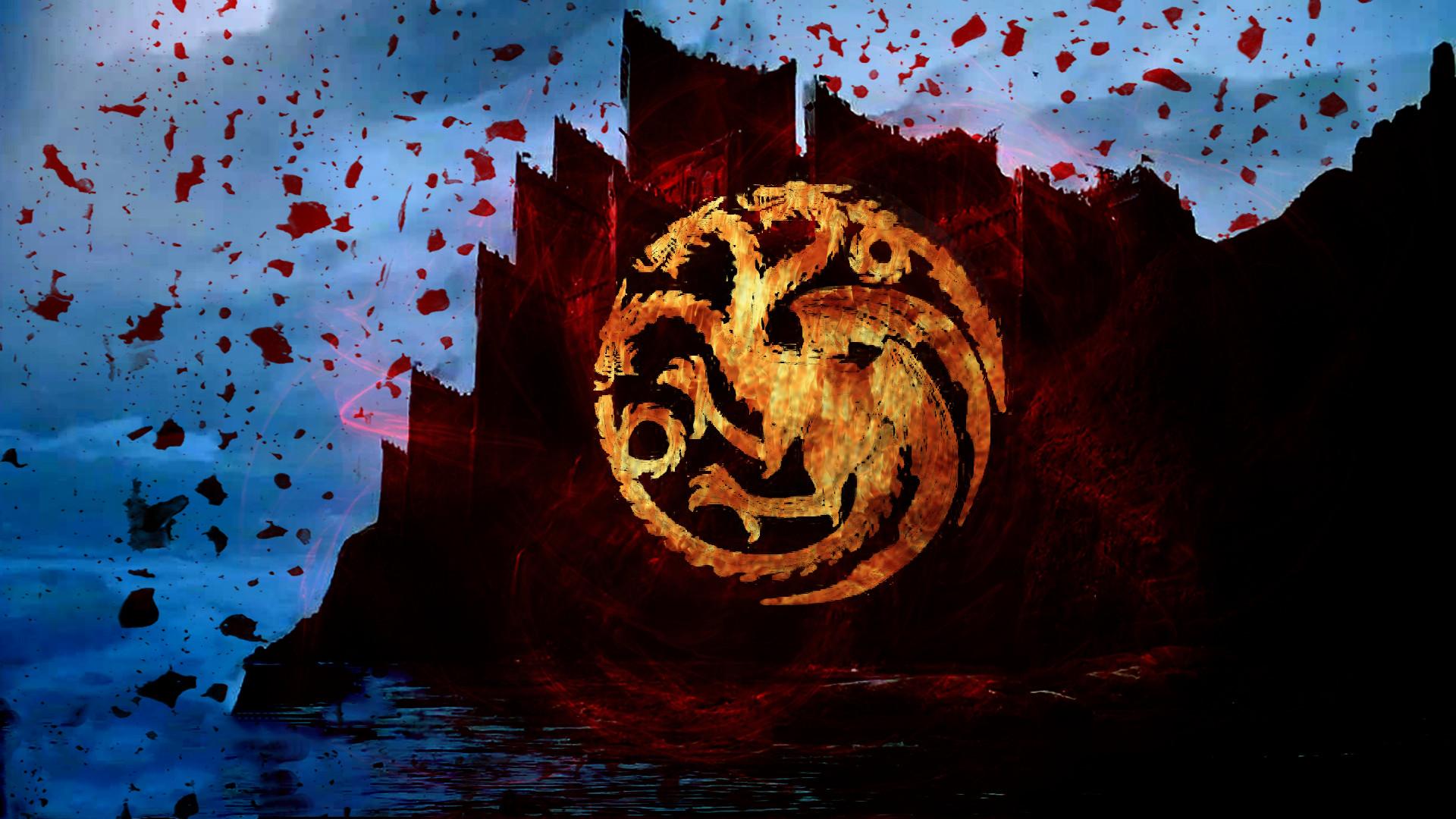 House Targaryen Wallpaper 72 Images - Game Of Thrones House Targaryen Desktop , HD Wallpaper & Backgrounds