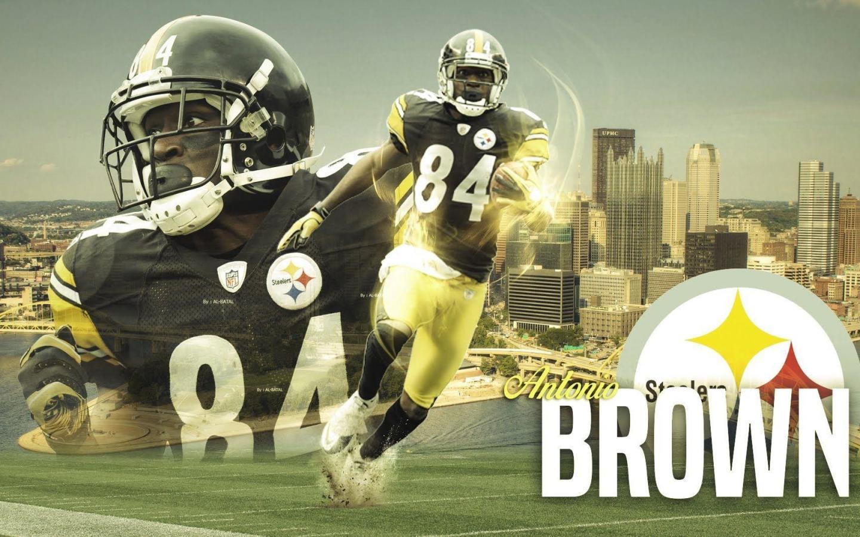 Pittsburgh Steelers Antonio Brown Wallpaper-3v4f6p3 - Steelers Wallpaper Ab , HD Wallpaper & Backgrounds