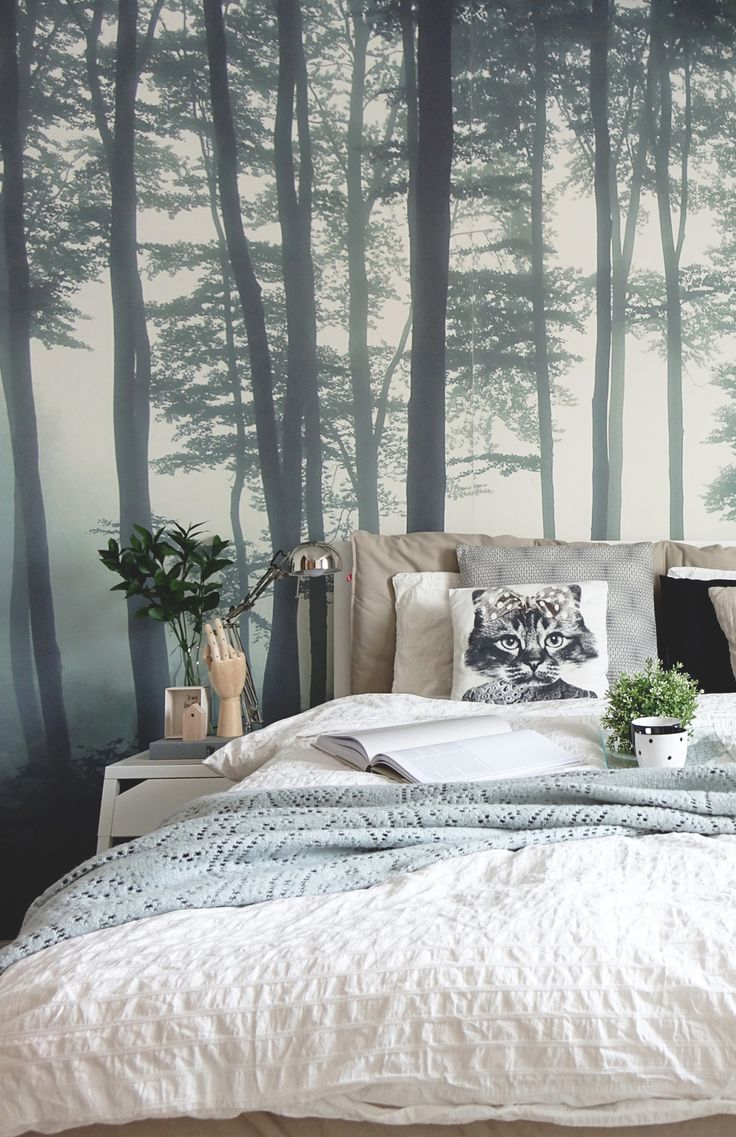 Exciting Birch Tree Wallpaper Bedroom Outdoor Wall - Misty Forest