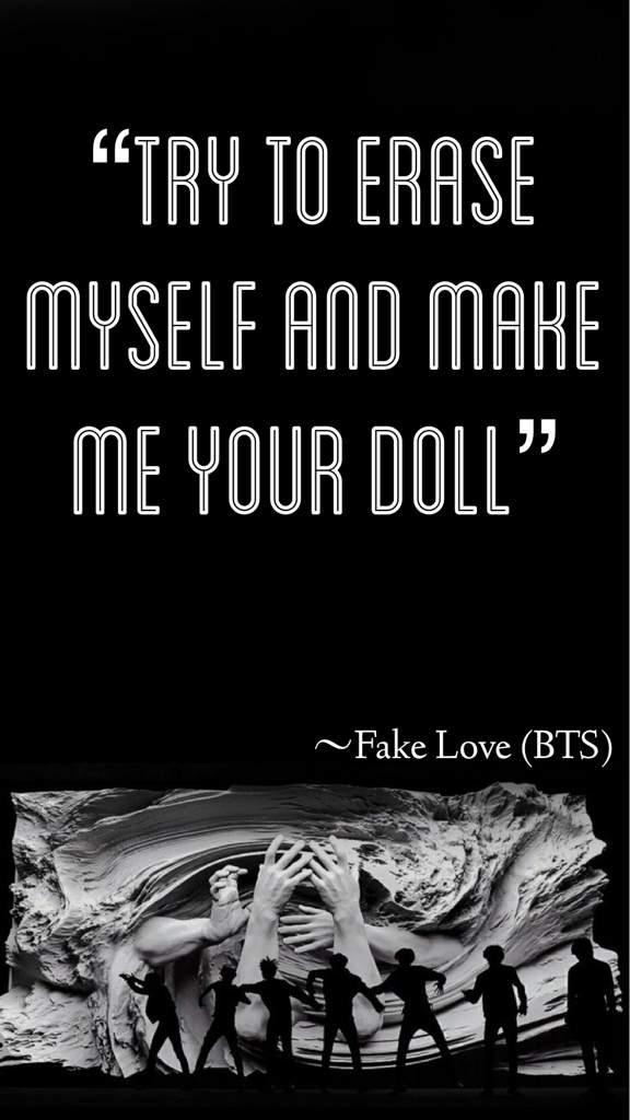 Fake Love Lyric Wallpapers - Bts Fake Love Dance , HD Wallpaper & Backgrounds