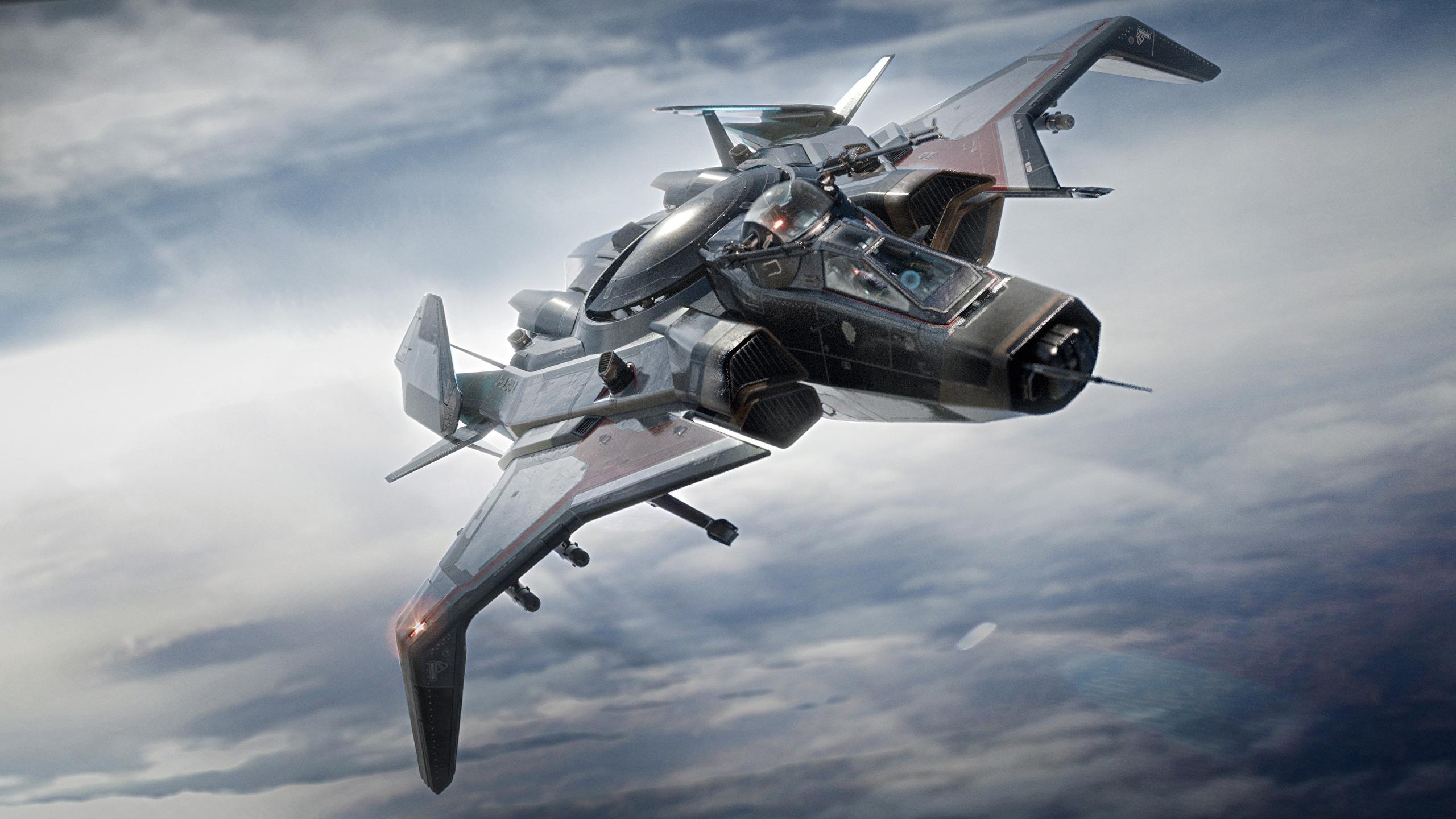 2560 X - Star Citizen Gladiator Bomber , HD Wallpaper & Backgrounds