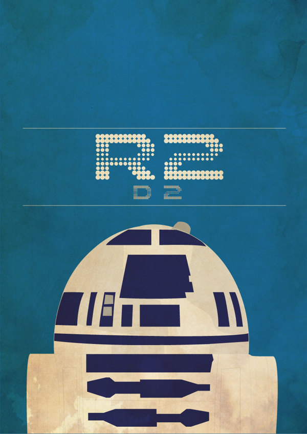 Star Wars R2d2 Wallpaper Background Download Mobile - Star Wars Characters Retro Posters , HD Wallpaper & Backgrounds