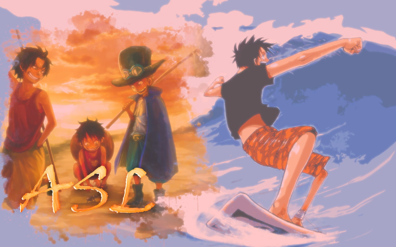Monkey D Luffy Ace And Sabo Painting One Piece One