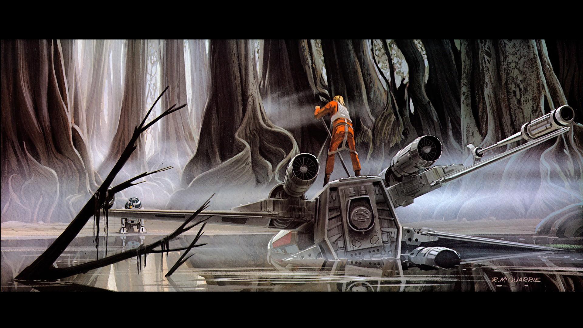 Luke Skywalker Luke X Wing Dagobah 319772 Hd Wallpaper Backgrounds Download