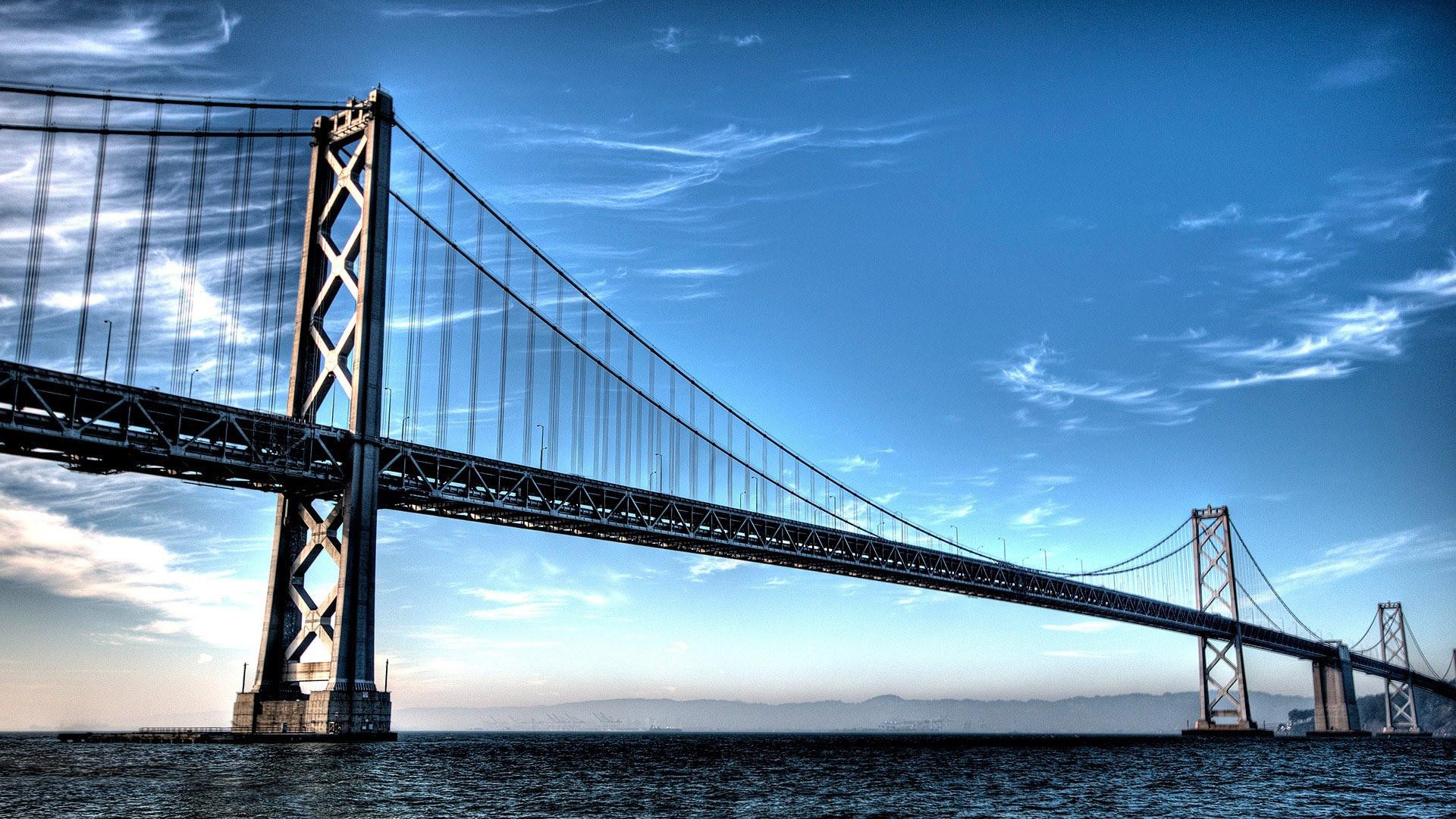 Cool Civil Engineering Wallpaper Backgrounds - San Francisco–oakland Bay Bridge , HD Wallpaper & Backgrounds