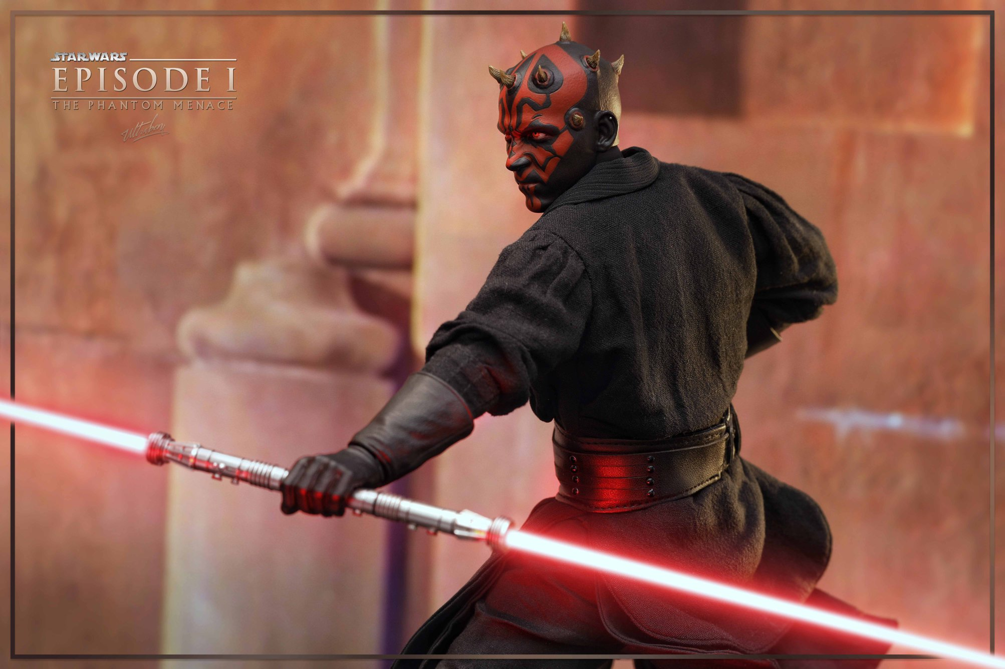 Movie Star Wars Episode I The Phantom Menace Star Wars - Hot Toys Darth Maul Poses , HD Wallpaper & Backgrounds