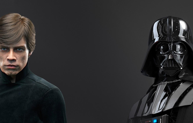 Photo Wallpaper Game Darth Vader Darth Vader Electronic Luke Skywalker Und Darth Vader 3111694 Hd Wallpaper Backgrounds Download