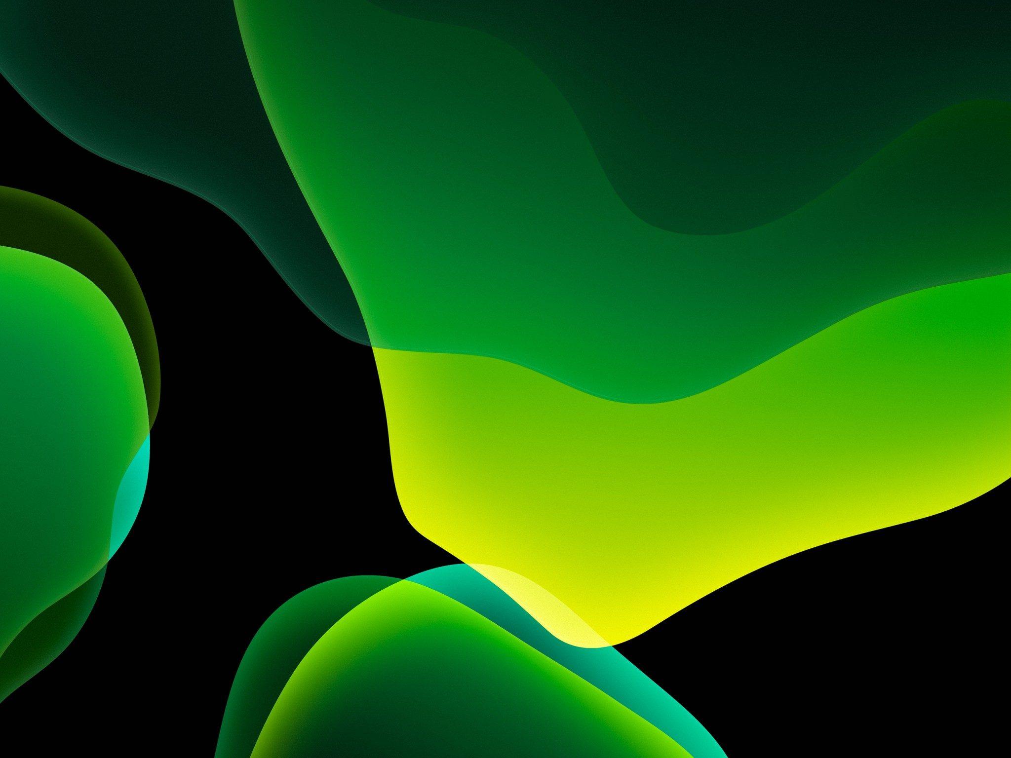 Ios 13 Wallpaper Green Dark , HD Wallpaper & Backgrounds