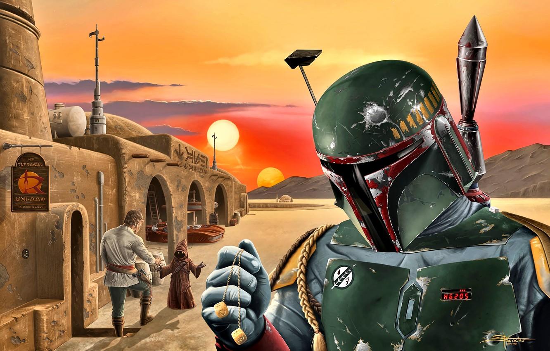 Photo Wallpaper Star Wars Boba Fett The Bounty Hunter Boba Fett Fan Art 3116871 Hd Wallpaper Backgrounds Download