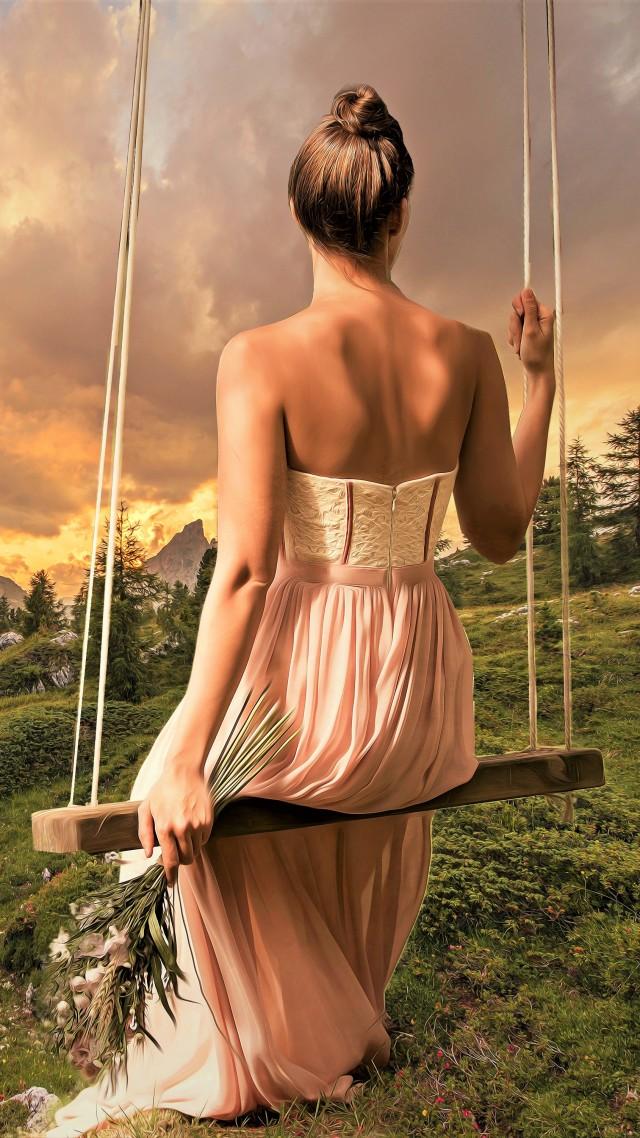 Girl, Dress, Brunette, Beautiful, 4k - Beautiful Wallpaper Dream Girl , HD Wallpaper & Backgrounds