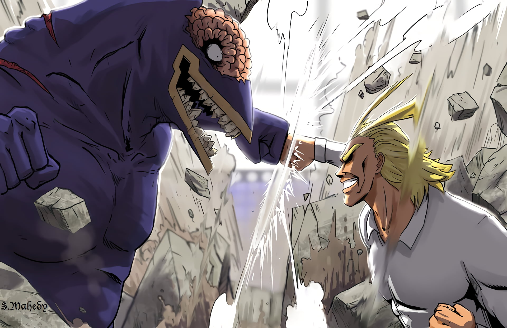 All Might Vs Nomu , HD Wallpaper & Backgrounds