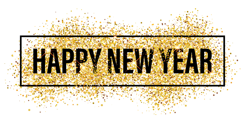 Happy New Year Gold , HD Wallpaper & Backgrounds
