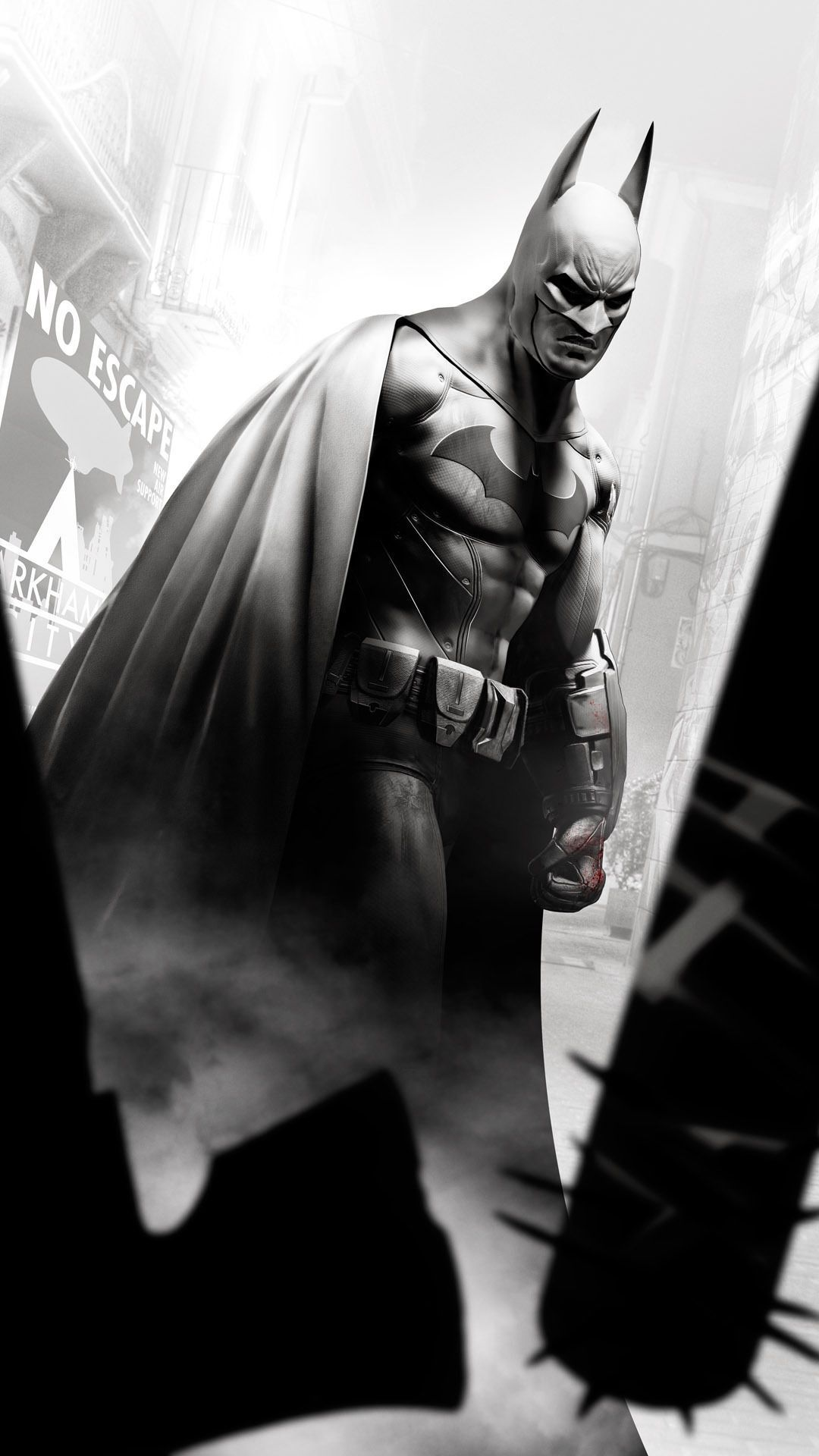 Game Mobile Wallpapers - Batman Arkham City Iphone , HD Wallpaper & Backgrounds