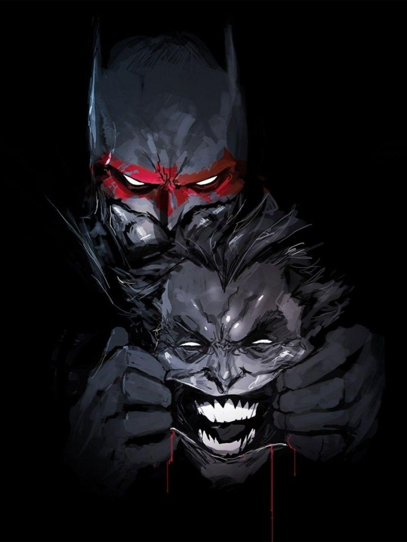 The Joker Comic - Batman And Joker Wallpaper Hd , HD Wallpaper & Backgrounds