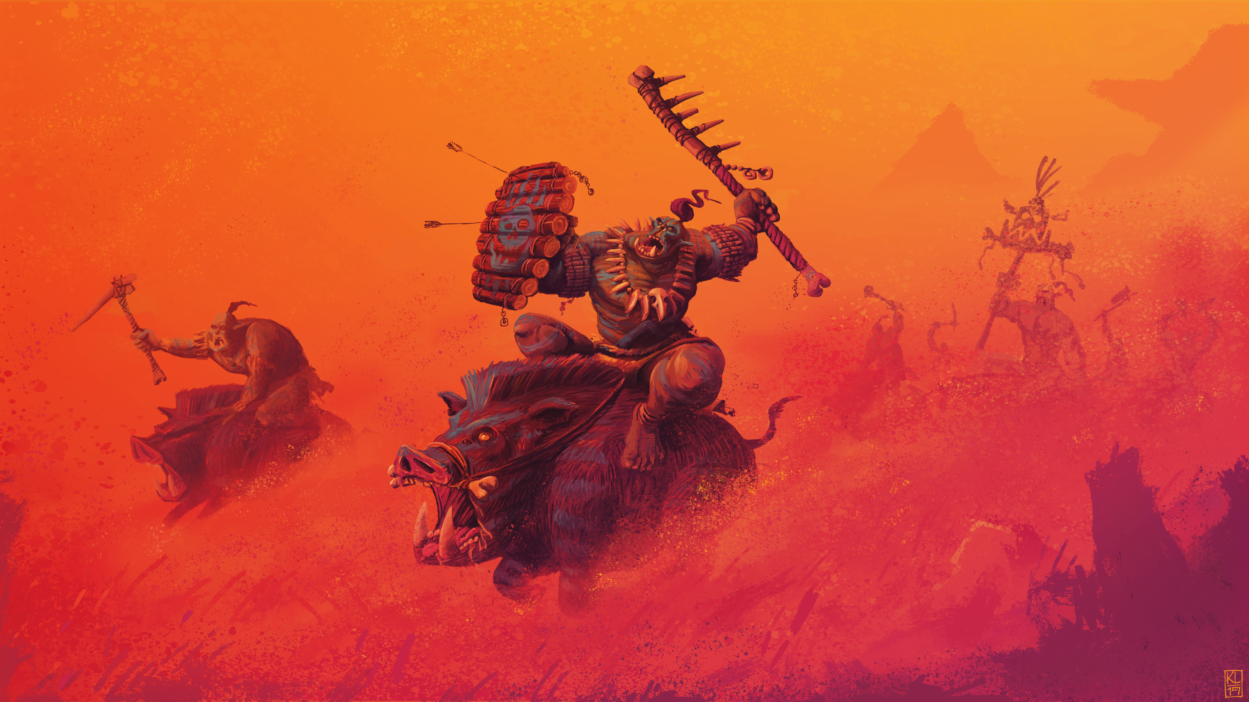 Warhammer Fantasy Art Orcs , HD Wallpaper & Backgrounds