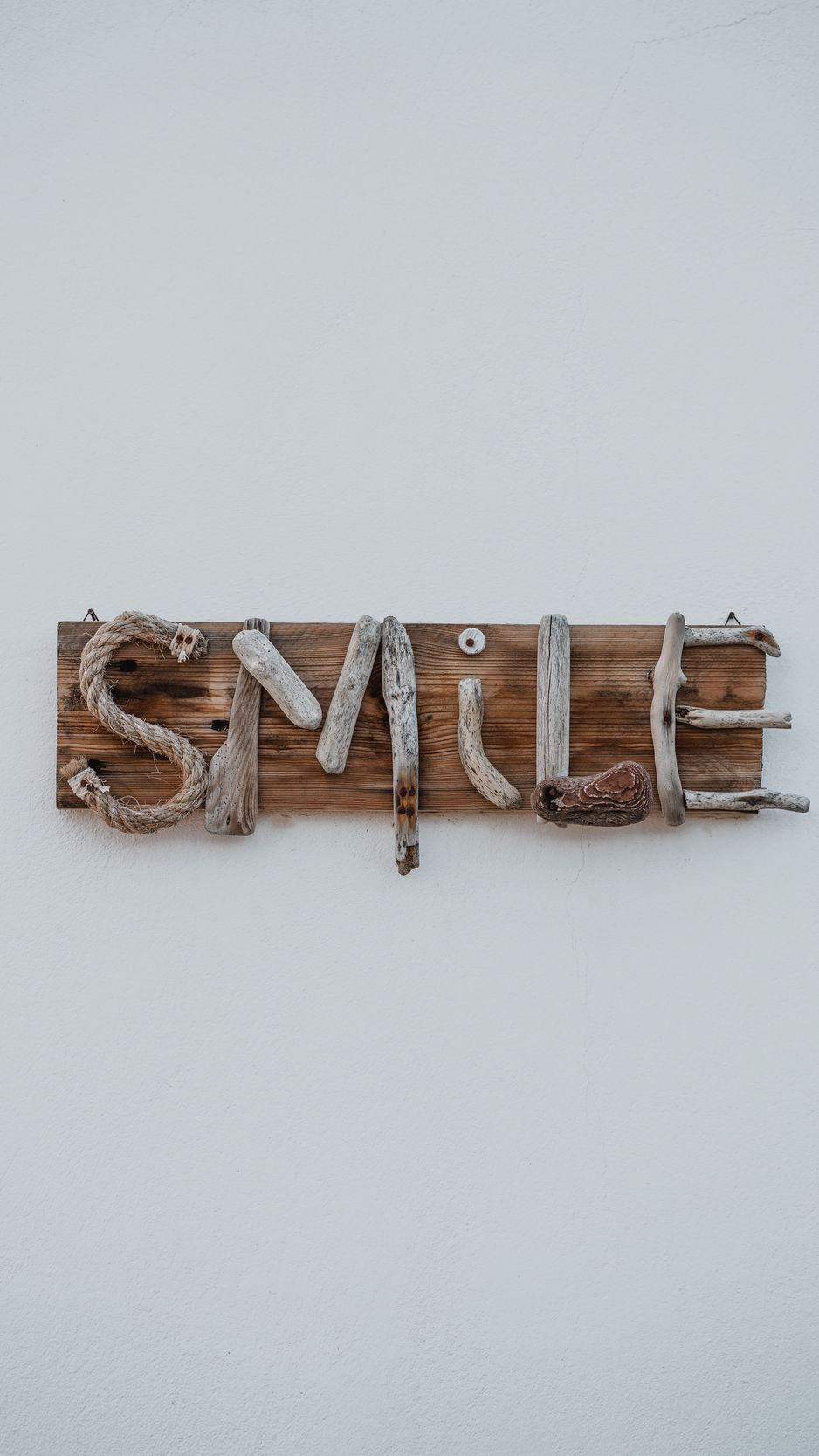 Wallpaper Smile, Inscription, Wooden, Creative - Plywood , HD Wallpaper & Backgrounds