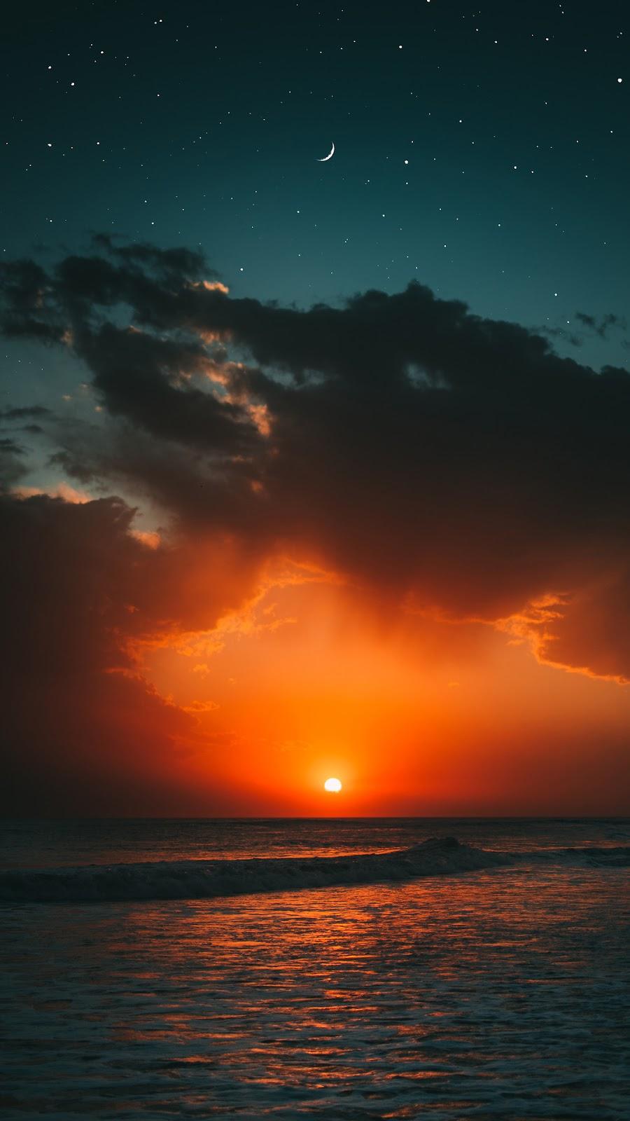 Sunset Beach Wallpaper - Sunset Wallpaper Iphone X , HD Wallpaper & Backgrounds