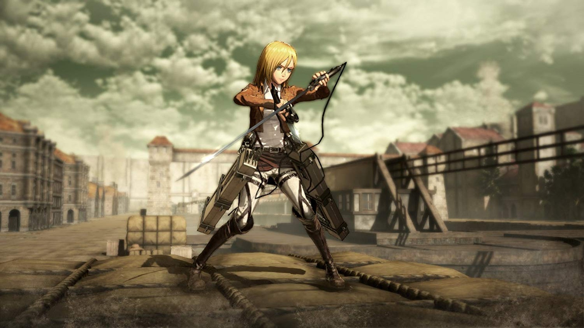 Attack On Titan Background Wallpaper Attack On Titan Wings Of Freedom Mods 3141020 Hd Wallpaper Backgrounds Download