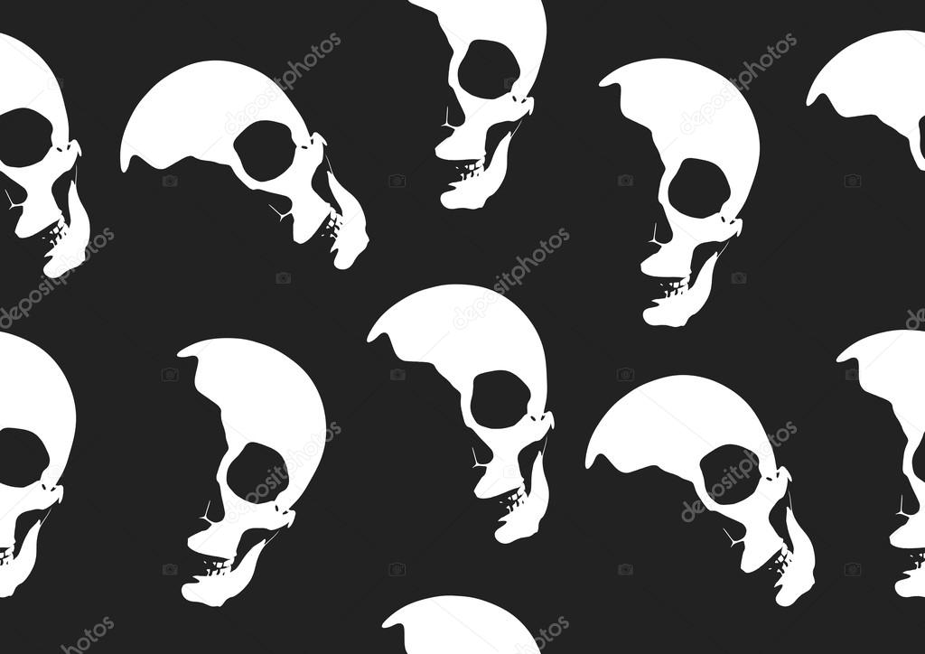 Halloween Skull Vector Wallpaper Stock Vector - Vector Graphics , HD Wallpaper & Backgrounds