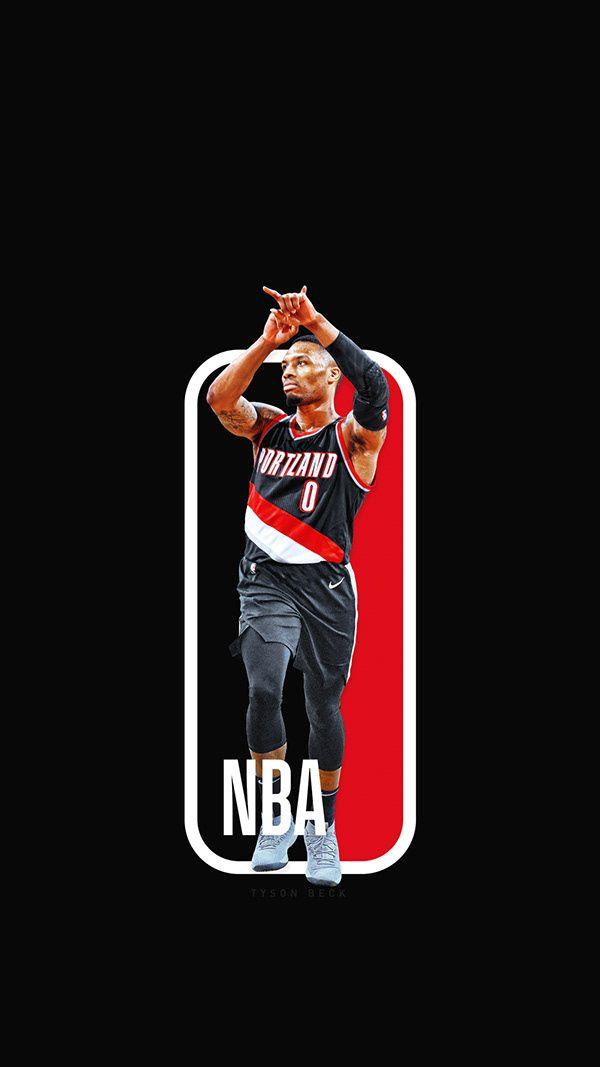 Damian Lillard Nba Logo , HD Wallpaper & Backgrounds