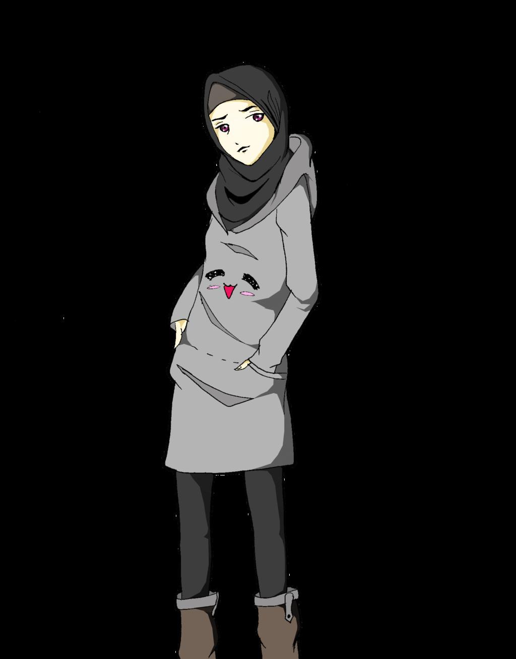Tumbler Drawing Gambar - Hijab Anime Girl Drawing , HD Wallpaper & Backgrounds