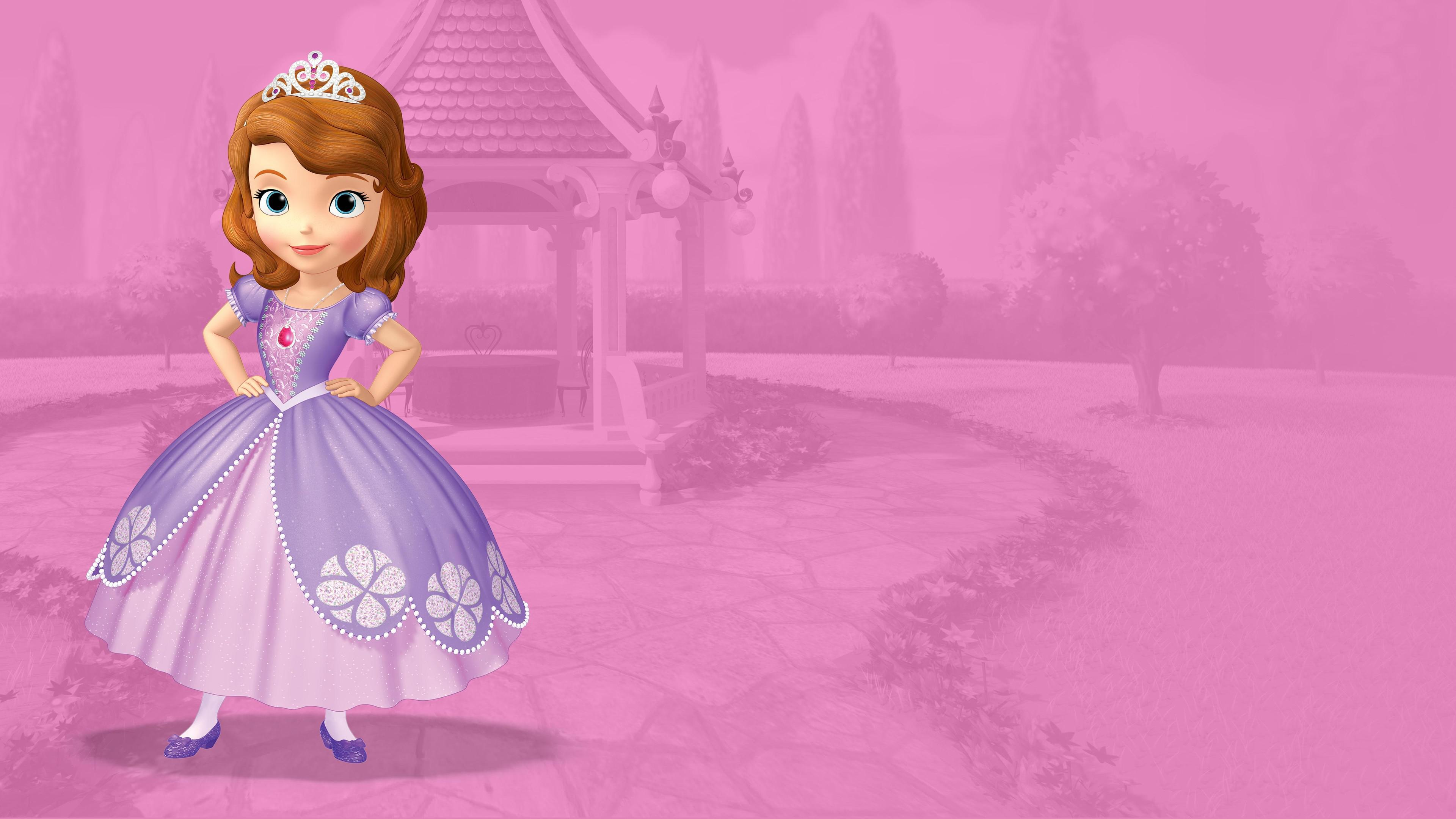 Princesa Sofia Wallpaper - Pink Sofia The First Background , HD Wallpaper & Backgrounds