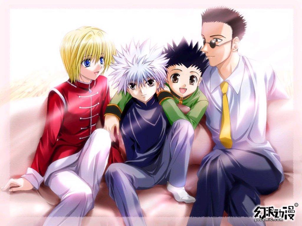 Anime Hunter X Hunter Characters Kurapica Leorio Gon - Gon Killua Kurapika Hunter X Hunter , HD Wallpaper & Backgrounds