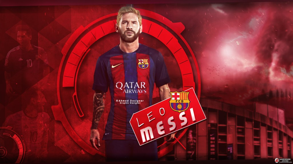 Wallpaper Terbaru - Barcelona Messi Wallpaper 2017 , HD Wallpaper & Backgrounds