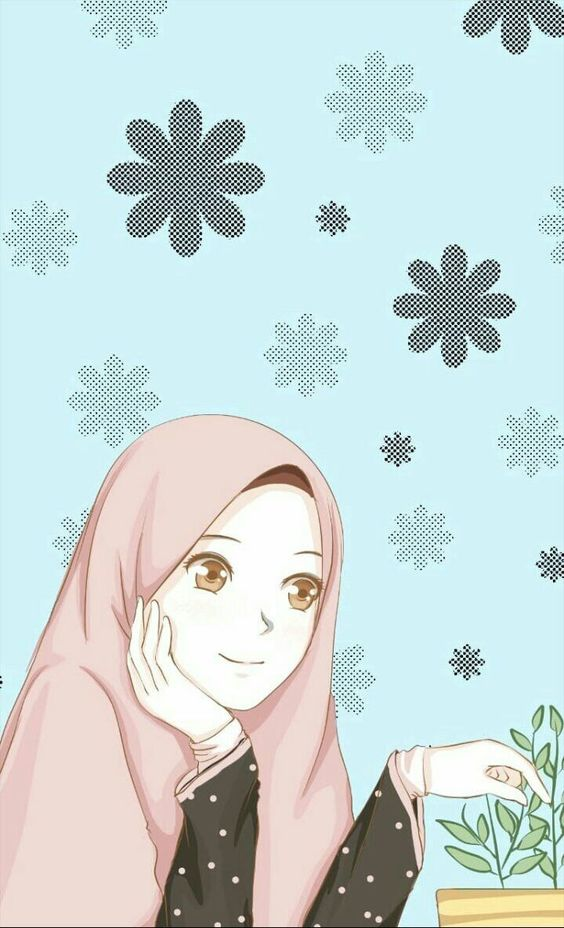 Kartun Muslimah Imut Dan Lucu - Background Islamic Pic Girl , HD Wallpaper & Backgrounds