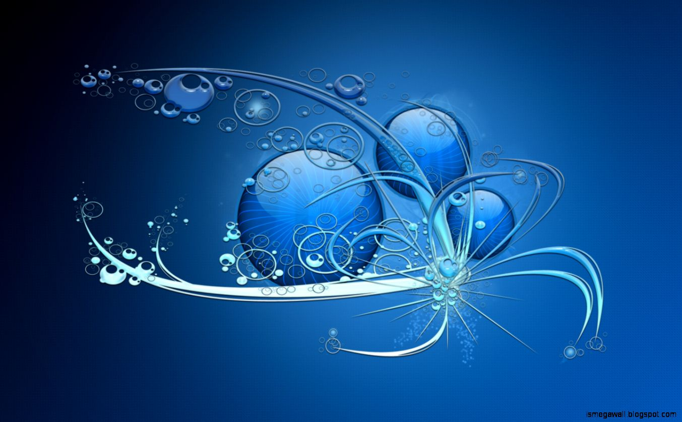 Blue Abstract Widescreen Wallpapers Hd Wallpapers - Dell , HD Wallpaper & Backgrounds