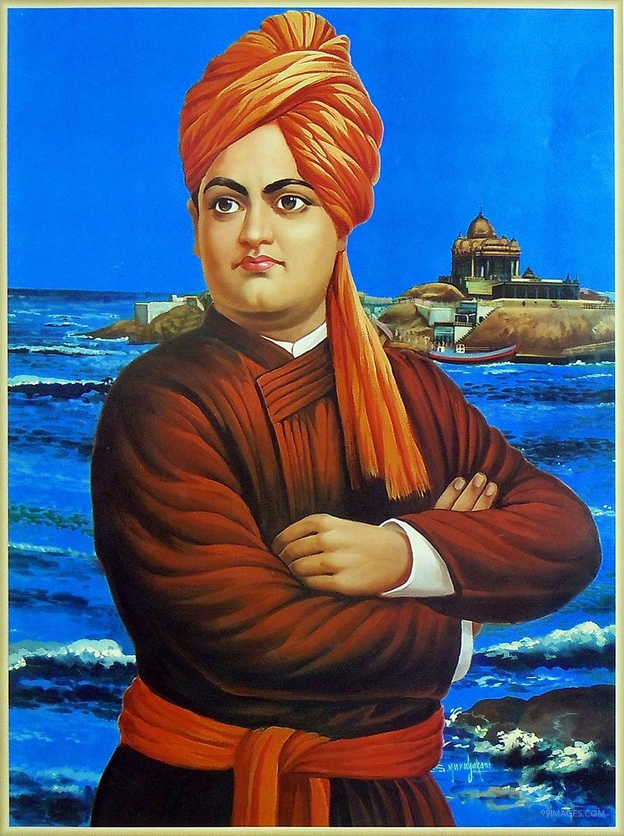 Vivekananda Hd Wallpapers - Swami Vivekananda , HD Wallpaper & Backgrounds