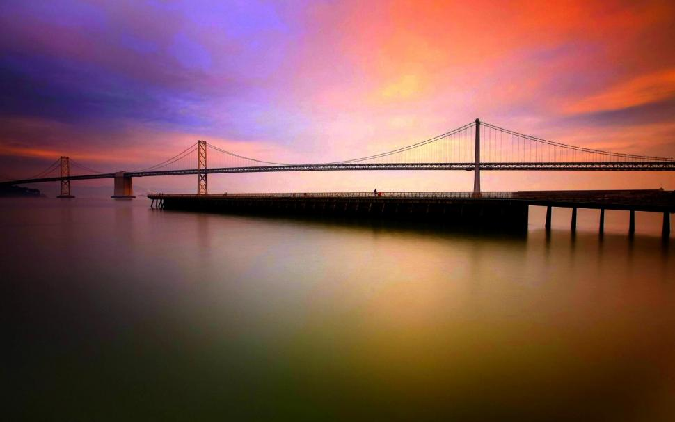 Soothing View Wallpaper,california Hd Wallpaper,bridge - Oakland Bay Bridge , HD Wallpaper & Backgrounds