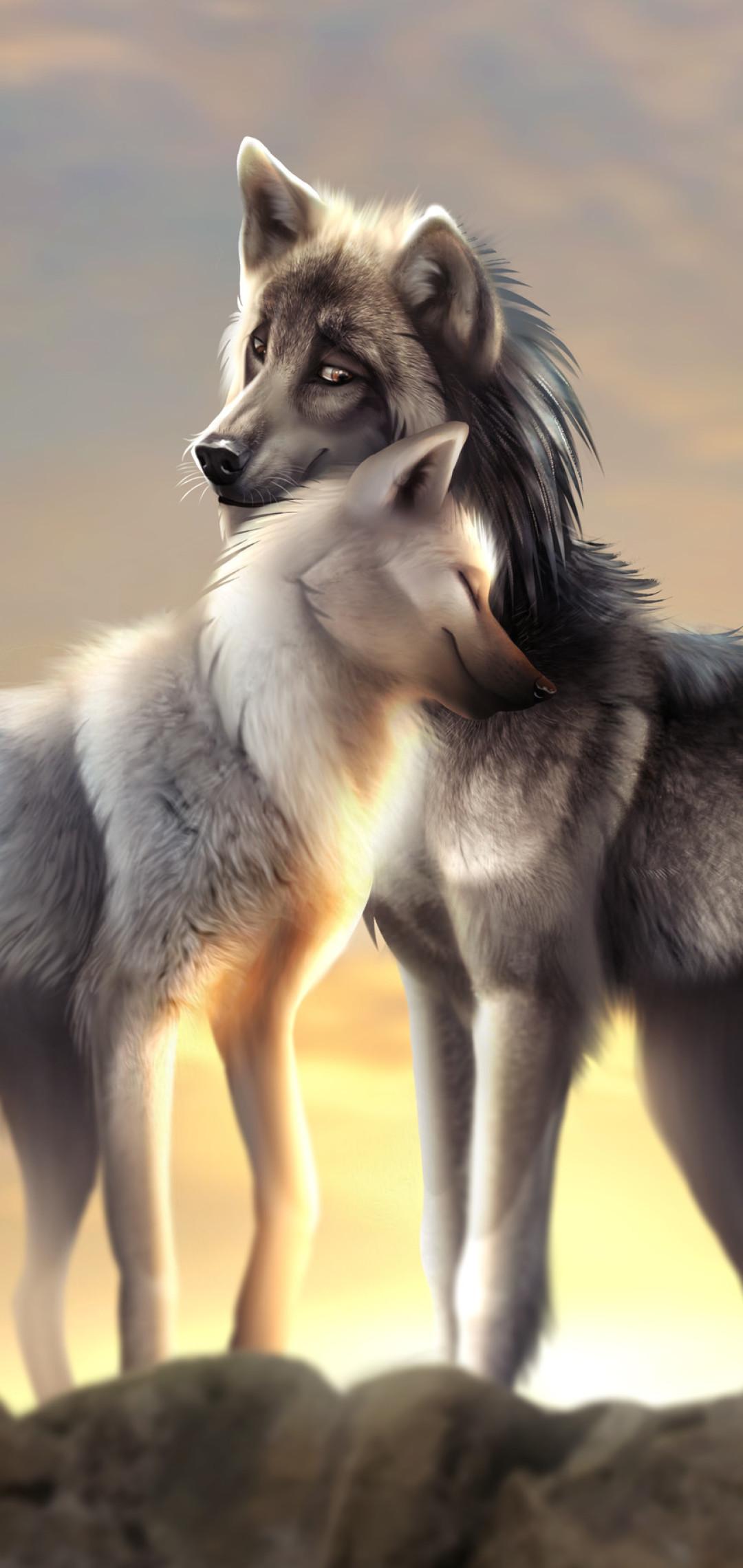 Wolf Wallpaper Phone - Cute Wolf Wallpaper Iphone , HD Wallpaper & Backgrounds