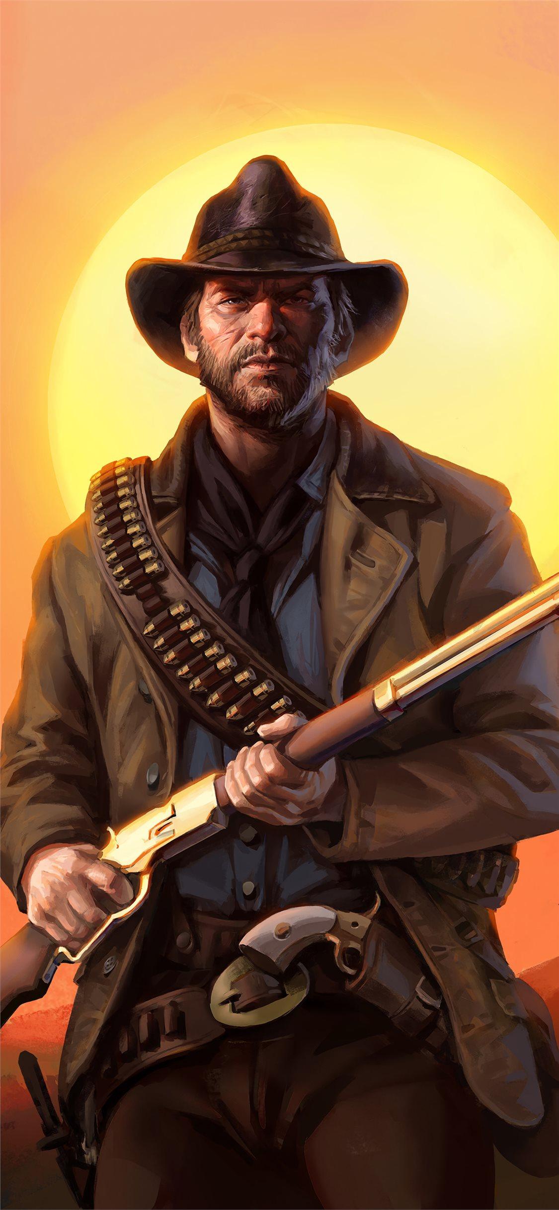 Gangster Wallpaper For Iphone - Red Dead Redemption 2 Arthur Morgan Fanart , HD Wallpaper & Backgrounds