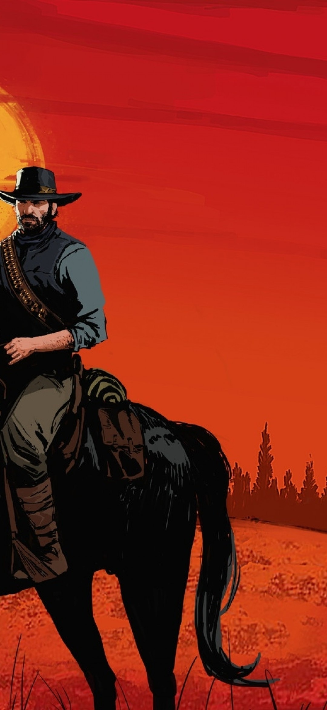 Red Dead Redemption 2, Artwork, Horses, Rdr2 - Red Dead Redemption 2 Arthur Morgan Fanart , HD Wallpaper & Backgrounds