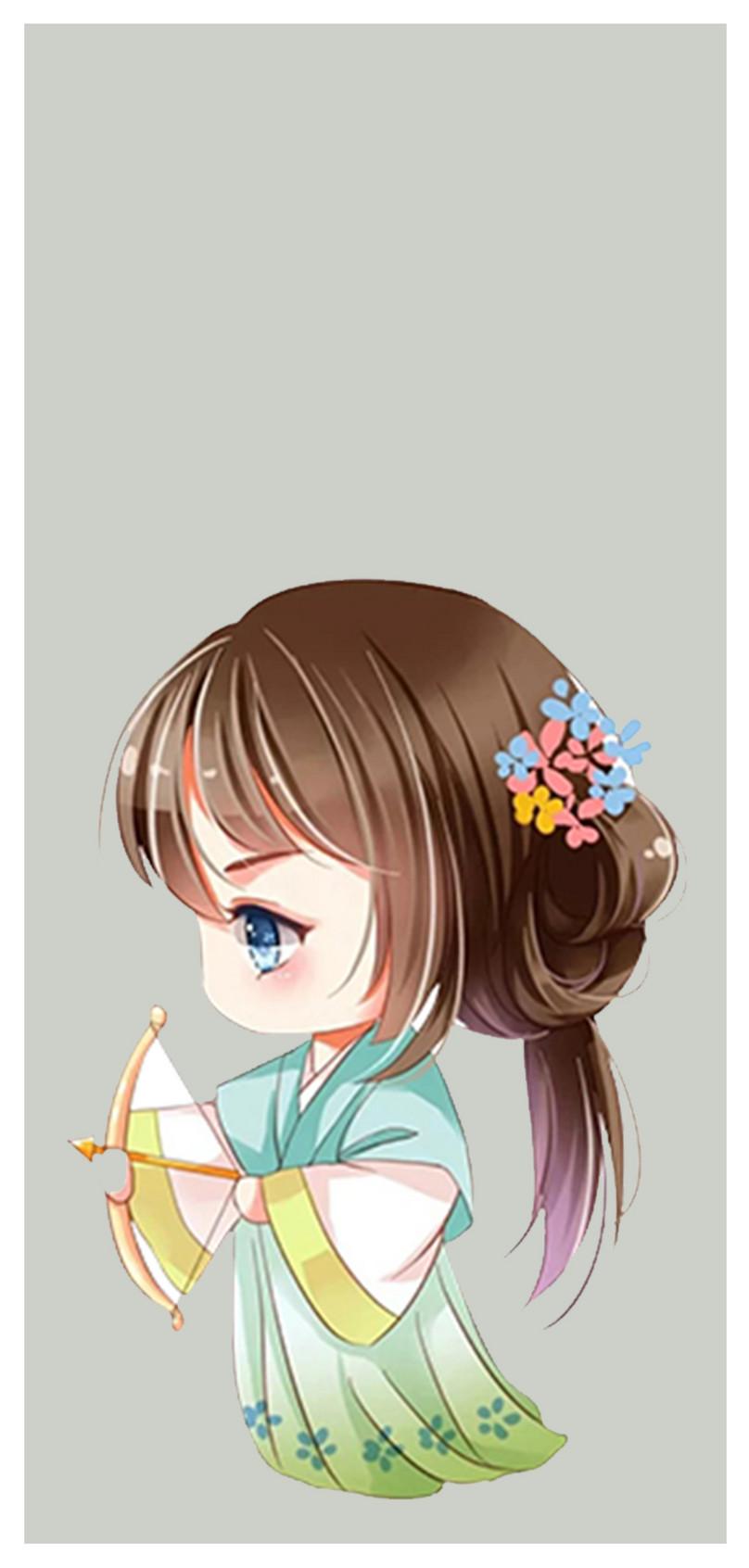 Cartoon Cute Girl Mobile Wallpaper - Anime Girls As Sagittariuses , HD Wallpaper & Backgrounds